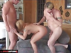 Anal, Blonde, Blowjob, Double Penetration, Hardcore