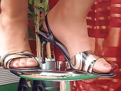 German, Foot Fetish, Close Up, POV, Stockings
