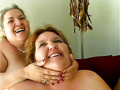 Lesbian, Mature, BBW, Big Boobs, Threesome
