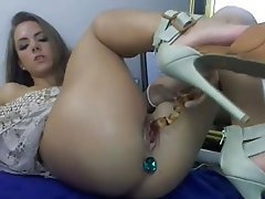 Anal, Brunette, Masturbation, Webcam