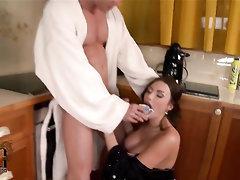Babe, Big Cock, Big Tits, Blowjob, Cumshot
