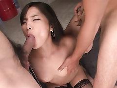 Asian, Ebony, Creampie, Stockings