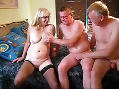 Amateur, Bisexual, Granny, Mature, Threesome