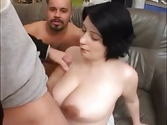 Amateur, BBW, Big Boobs, Threesome