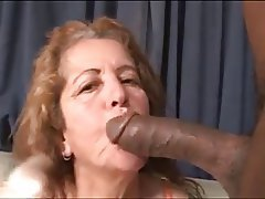 Brazil, Cumshot, Granny, Interracial