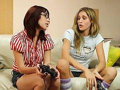 Lesbian, Blonde, Brunette, Face Sitting, Hairy